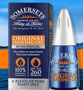 Buy one Large Shave Oil, get one small for free.  Father's Day special, enter code: TRAVEL at checkout.  www.somersetsusa.com