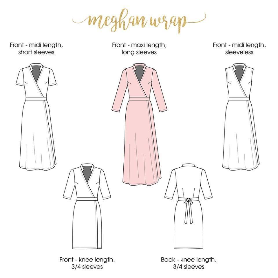 Meghan wrap dress sewing pattern by rebecca page new release and