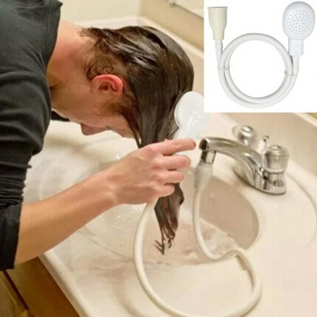 Faucet To Shower Converter Tloowy Shower Head With Slip On Spout