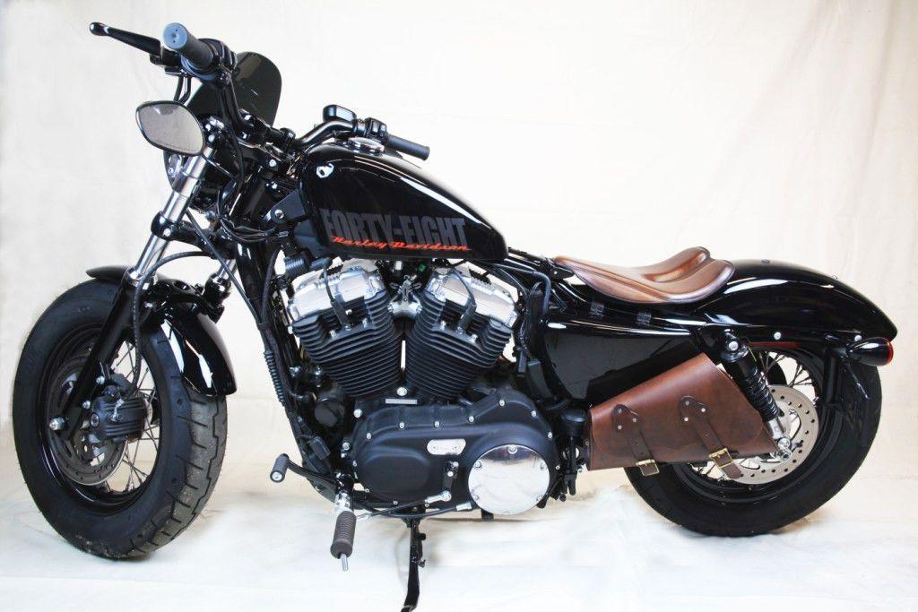 Blk Veg Tan Seat Chopper Harley Sportster Bobber Frame