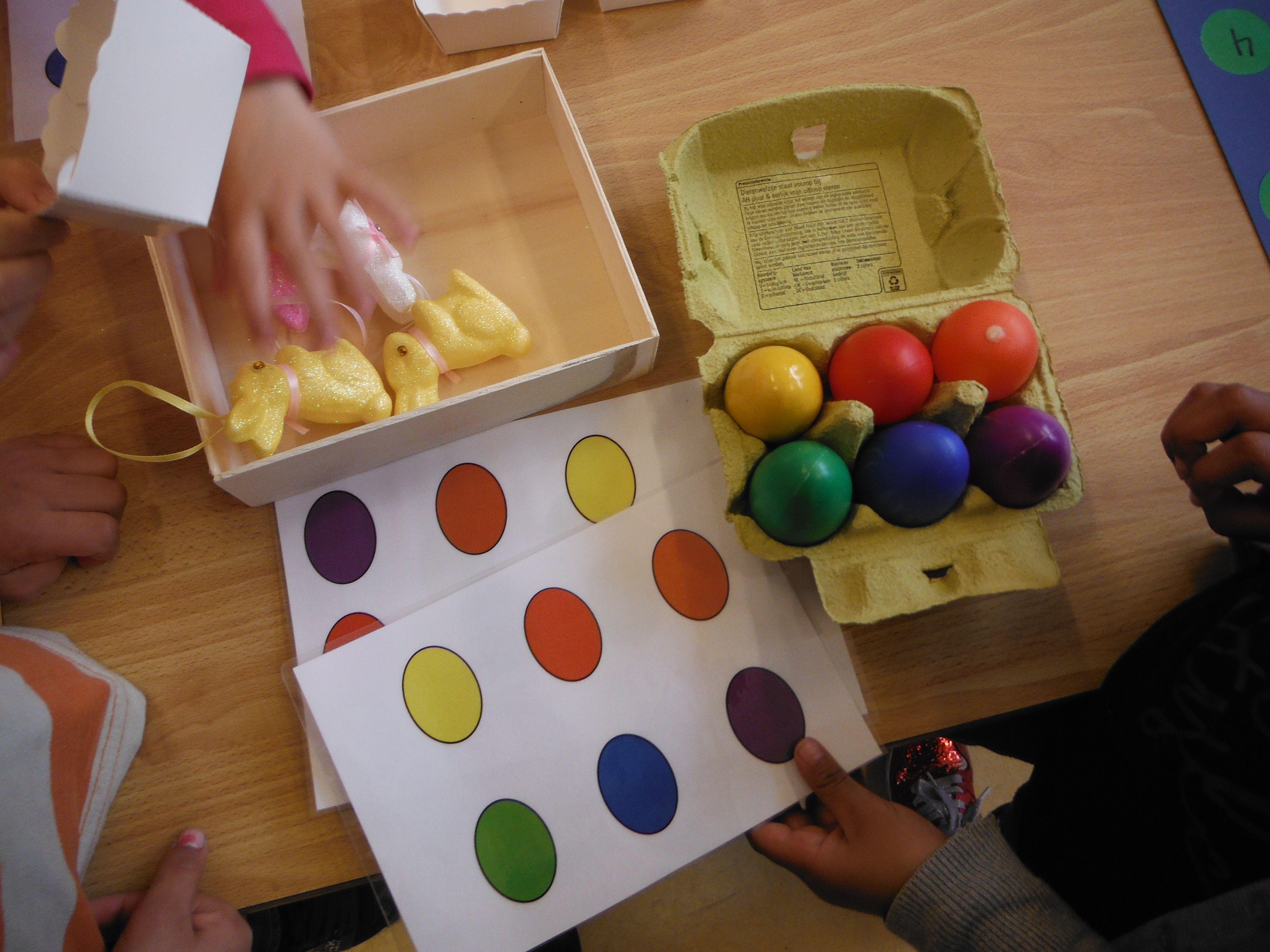Afbeeldingsresultaat voor gekleurde eitjes naleggen