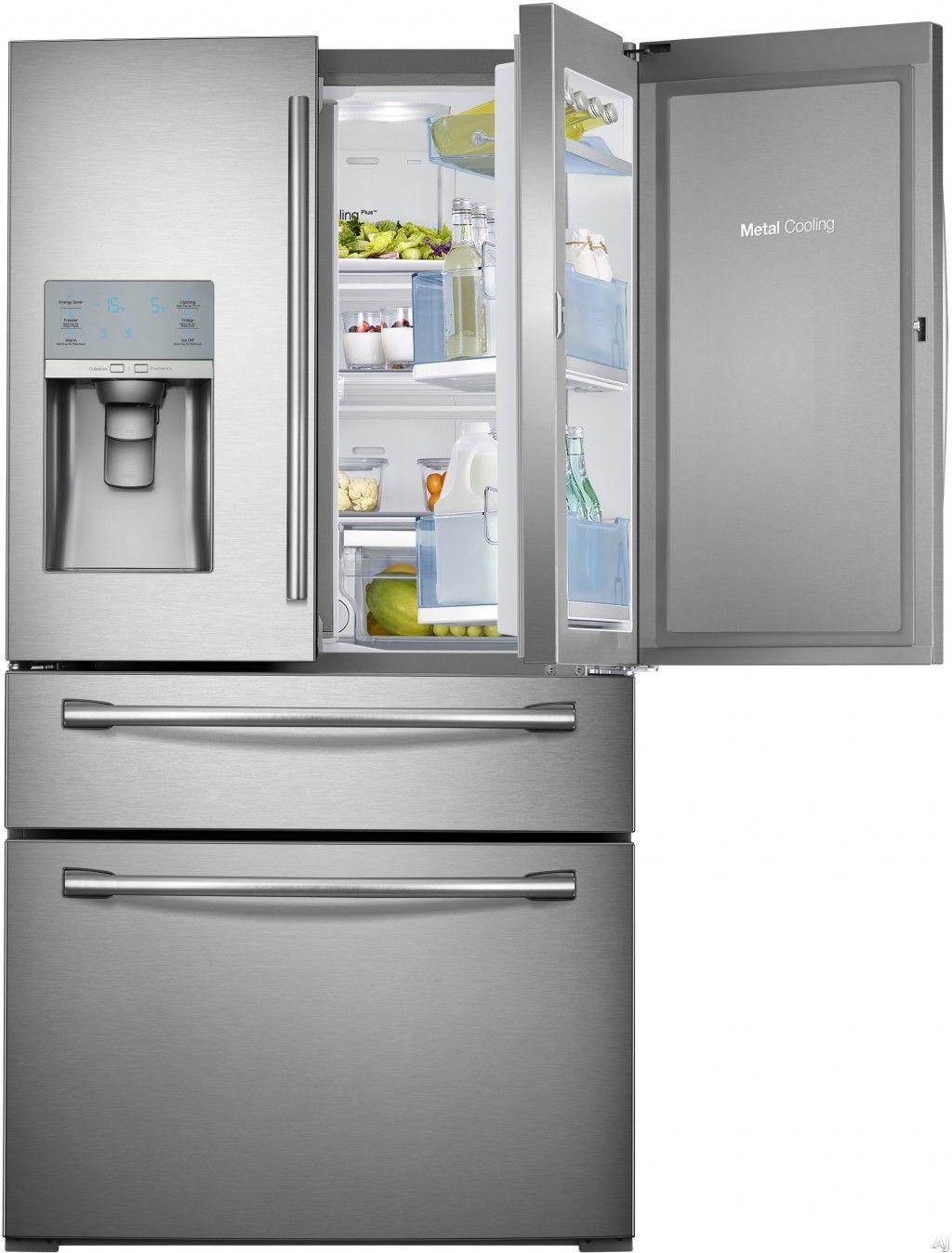 Contemporary Glass Door Fridge Freezer For Home With Samsung