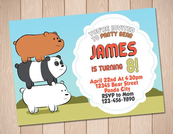 We bare bears birthday invitation we bare bears party por anerdo we bare bears birthday invitation we bare bears party por anerdo bookmarktalkfo Images