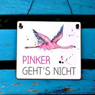 Flamingo Schild Mit Spruch Pink Is Beautiful Dekoschilder