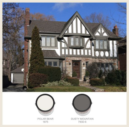 English Tudor House Colors This Tudor Style Shows A Distinctive Old World English Flavor With Tudor House Exterior Tudor Style Homes Tudor Exterior Paint