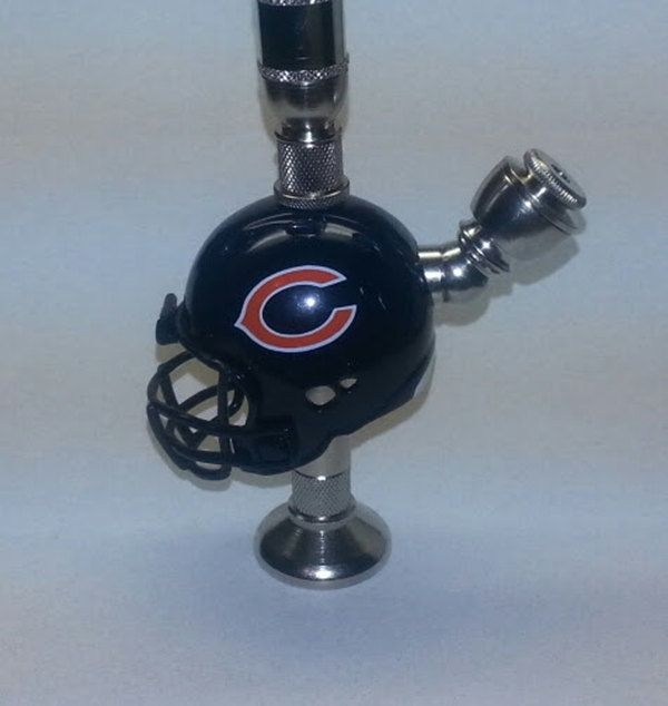 Chicago Bears NFL helmet pipe is a fully functional, working smoking ...