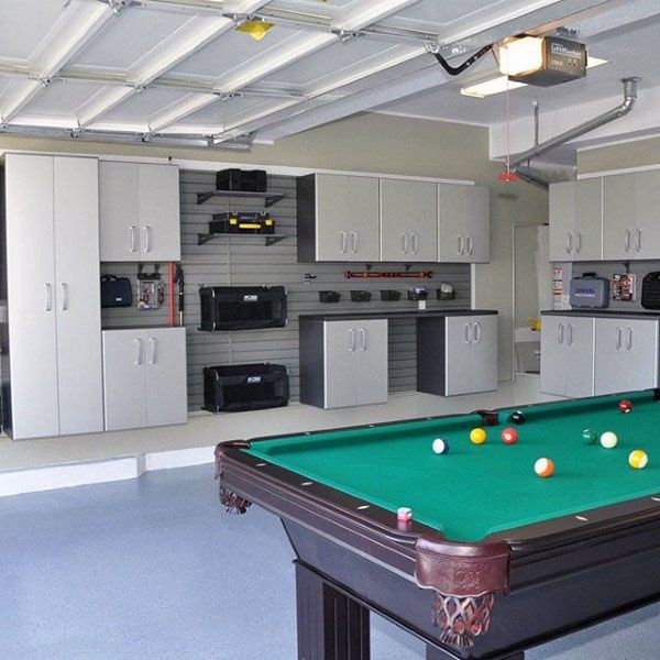 Garage Storage Ideas For Men Cool Organization And Shelving - Pool table in garage