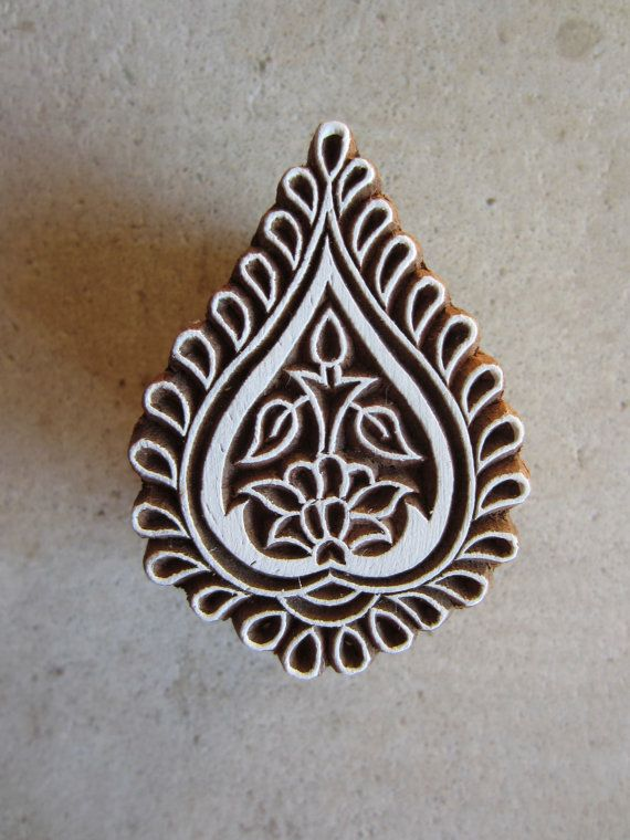 Small Block Print Hand Carved by QueenAndSwan on Etsy, $5.50
