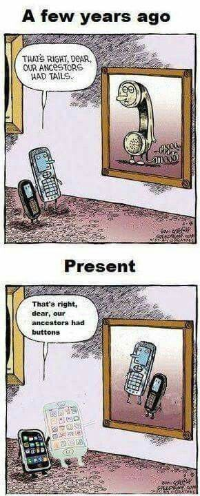 Then vs. now phones | Funny cartoons, Funny comics, Tech humor