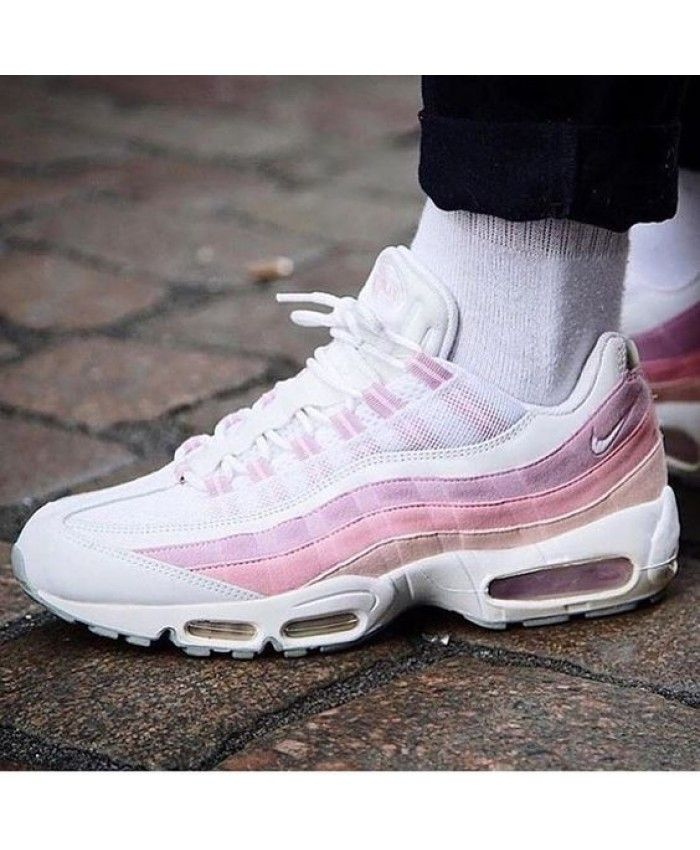 best cheap efd3a ee336 Pink White Nike Air Max 95 Trainers