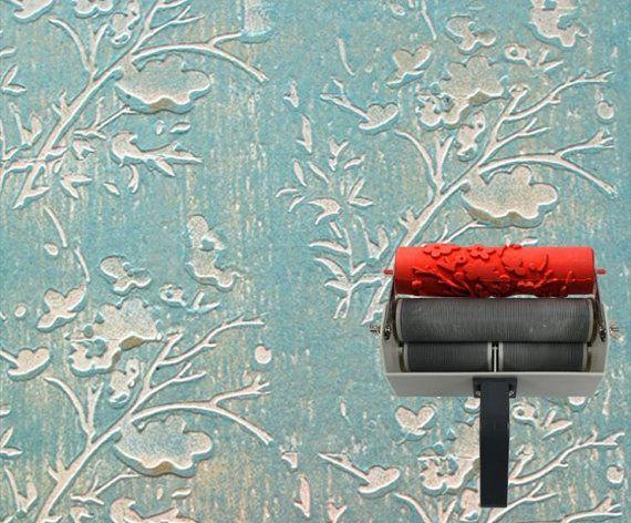 Rouleau  Peinture  Motifs Jolie Fleur Pour  Applicateur