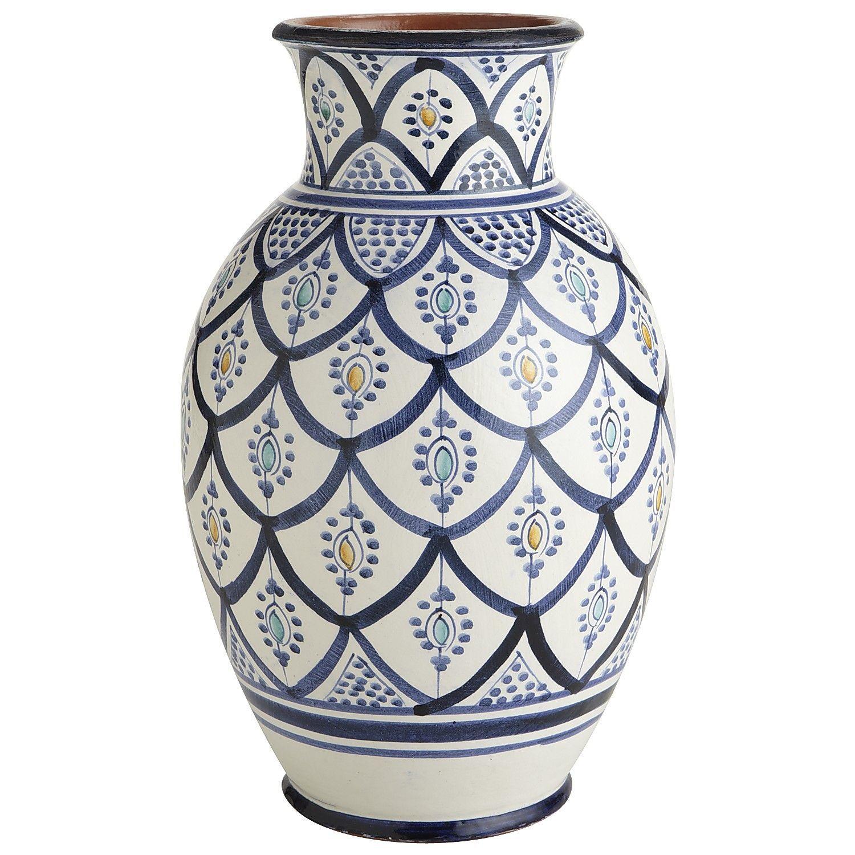 Blue white moroccan vase potteryceramic pinterest blue white moroccan vase reviewsmspy