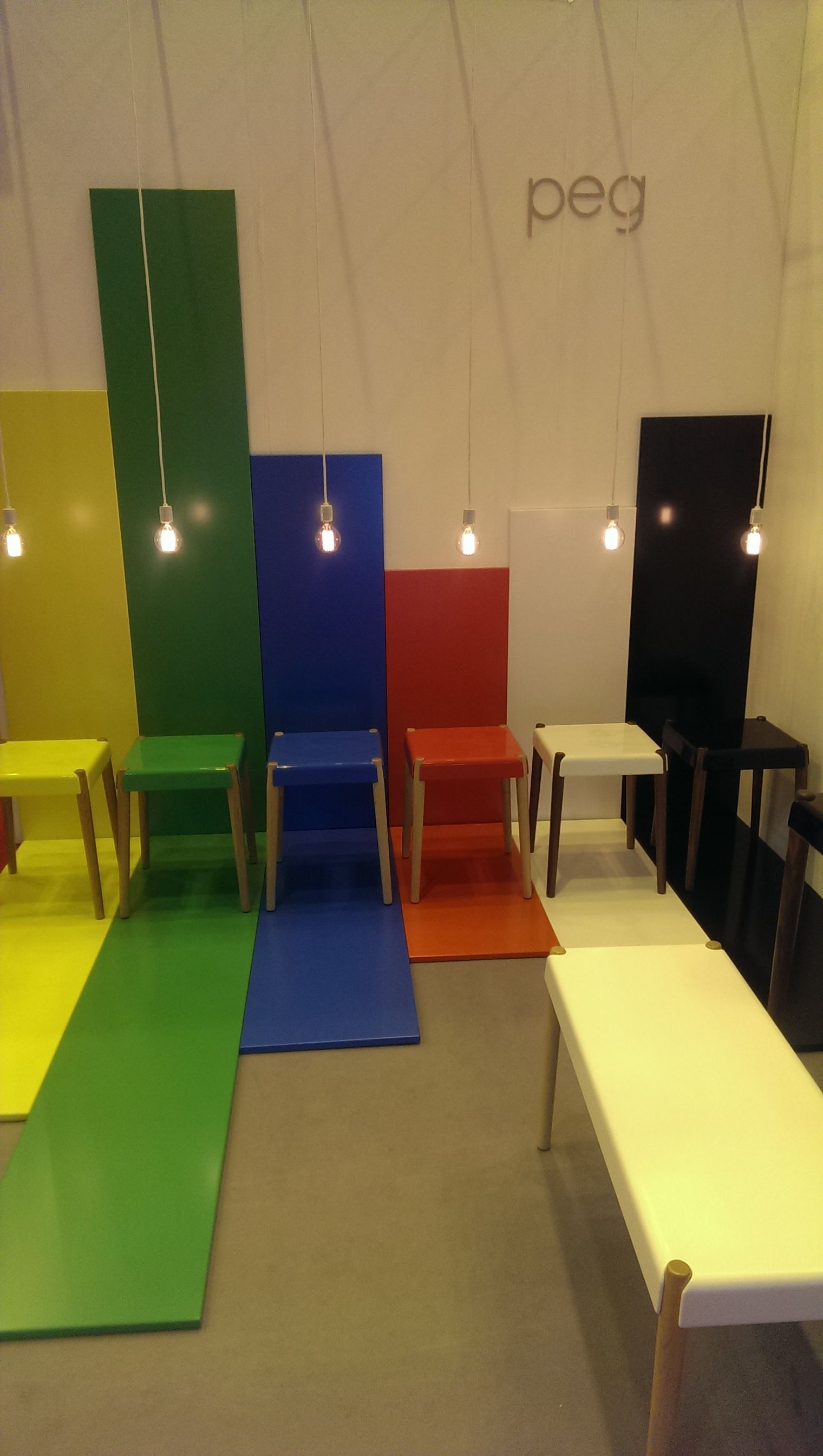 These easy to assemble Peg stools and benches from @brightpotato are just beautiful  LDF14 100% Design