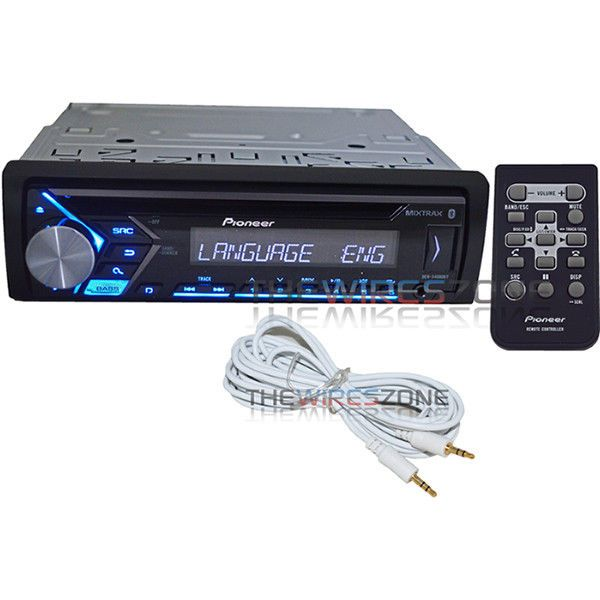 Pioneer DEHS4000BT 1DIN Bluetooth iPhone CD/AM/FM Car