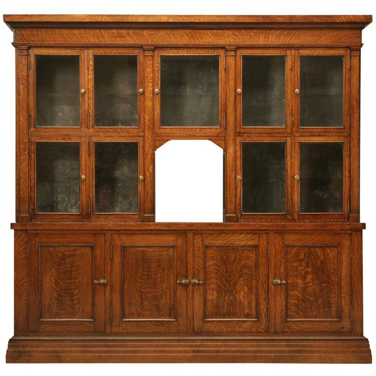 Spectacular Original Antique General Store Tobacco Cabinet in Quarter-Sawn  Oak - Spectacular Original Antique - Antique Oak Cabinet Antique Furniture