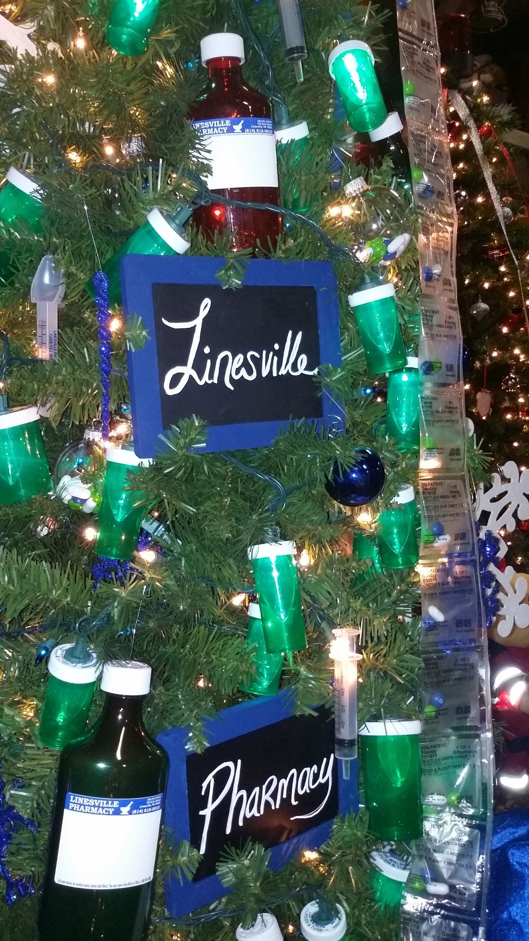 Pharmacy Themed Christmas Tree Holidays In The Pharmacy