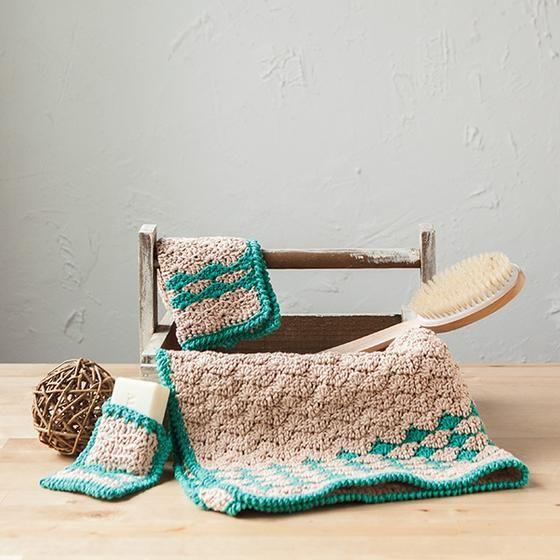 Rejuvenating Waves Spa Set - Knitting Patterns and Crochet Patterns ...