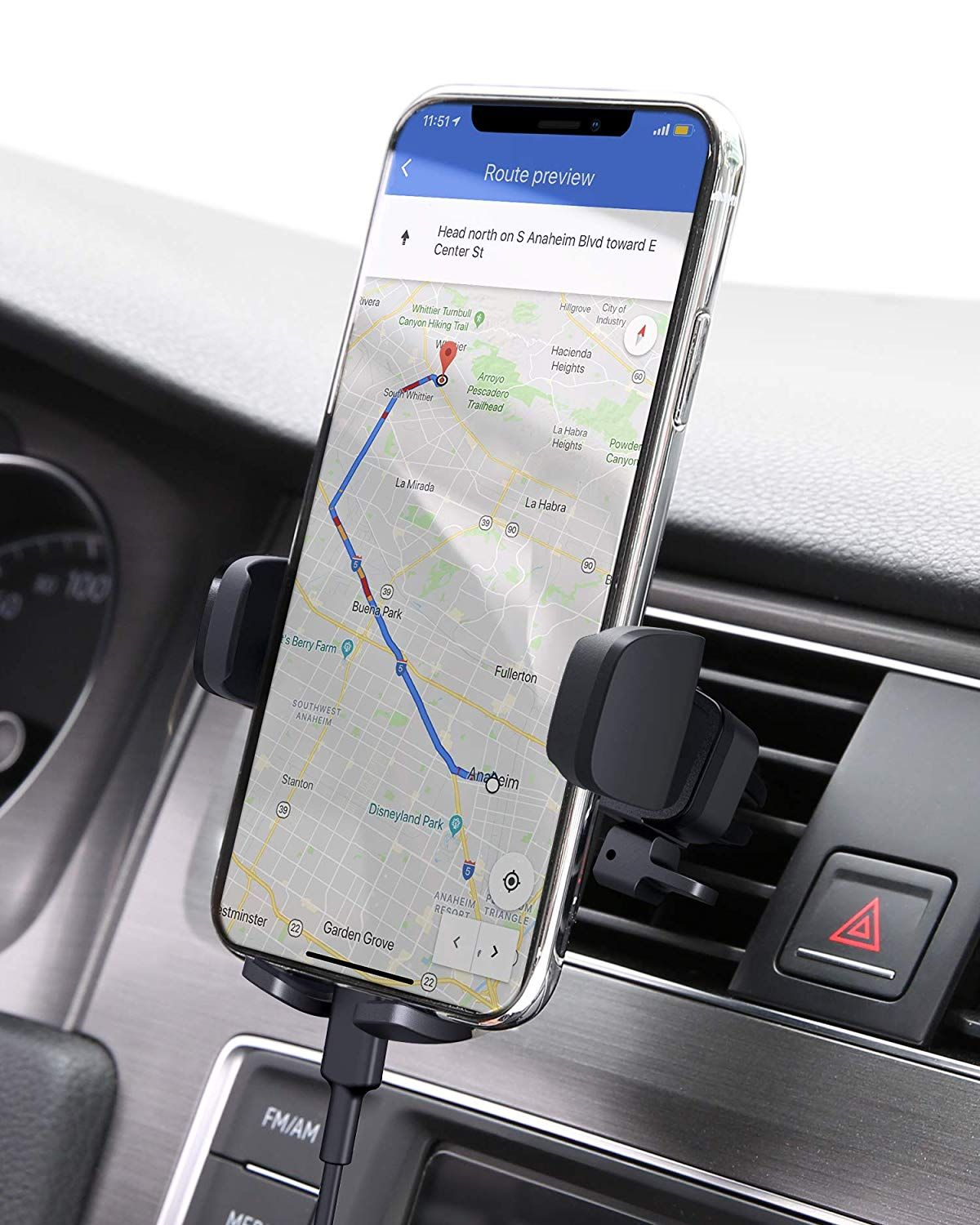 Aukey Car Phone Mount Air Vent Cell Phone Holder For Car Compatible With Iphone 11 11 Pro Xs Xs Car Phone Mount Car Phone Holder Phone Mount