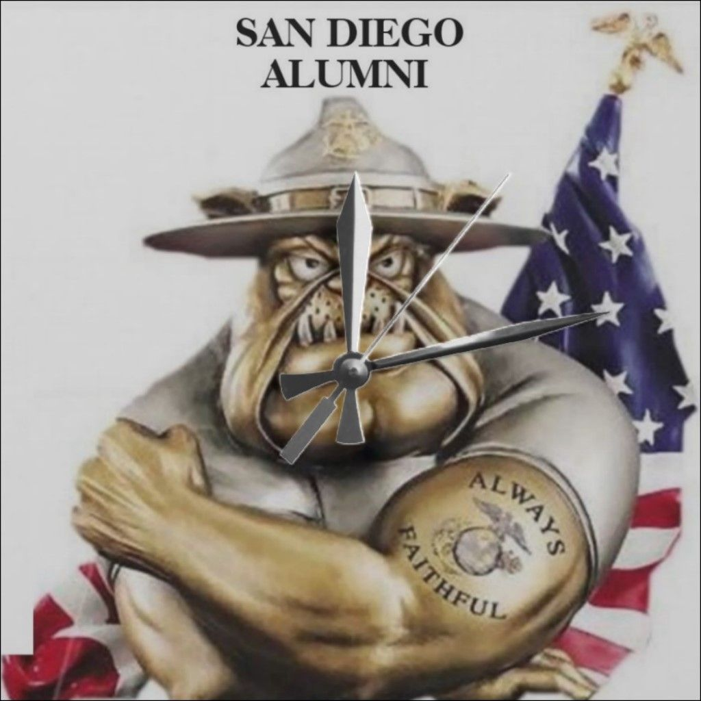 United States Marine Corps Bulldog Drill Instructor. SAN DIEGO ALUMNI. CLICK ONTO PHOTO TO GET DIRECT ONLINE ACCESS