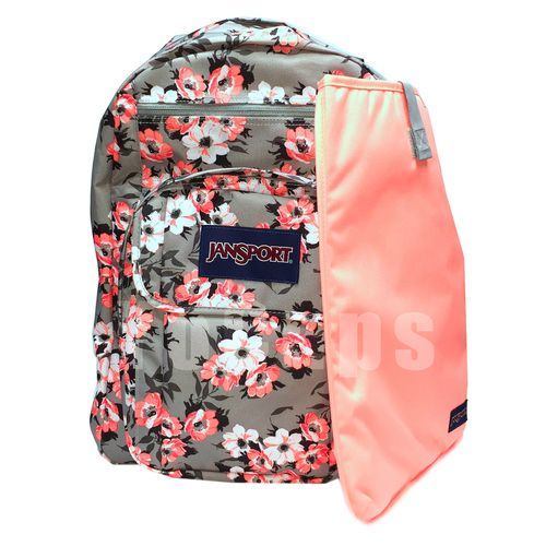 JanSport Classic Digital Student BACKPACK CORAL SPARKLE PRETTY POSEY 15