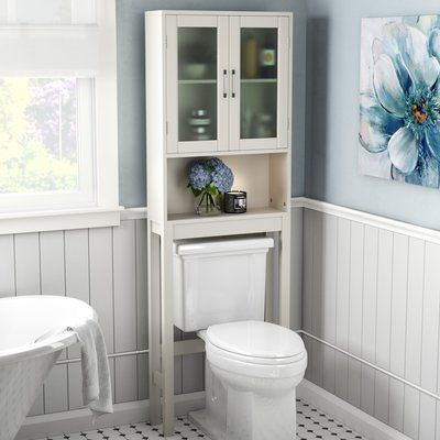 "Latitude Run Bibiana 22.5"" W x 67.3"" H Over the Toilet Storage"