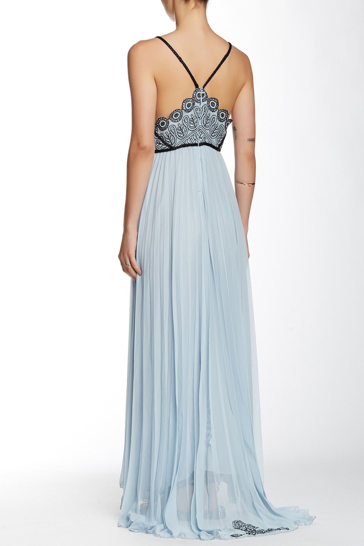 Belle Of The Ball Genuine Leather Trim Maxi Dress   Free people ...