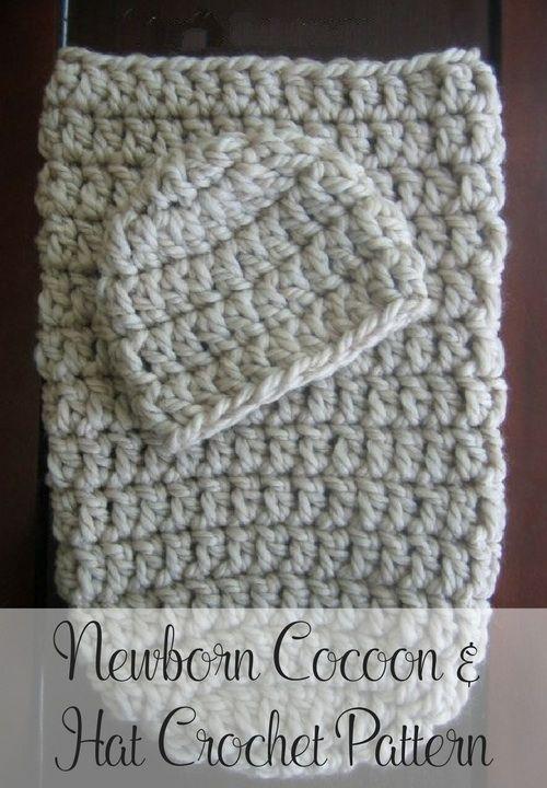 Free Crochet Cocoon & Hat Pattern | Bebé y Tejido