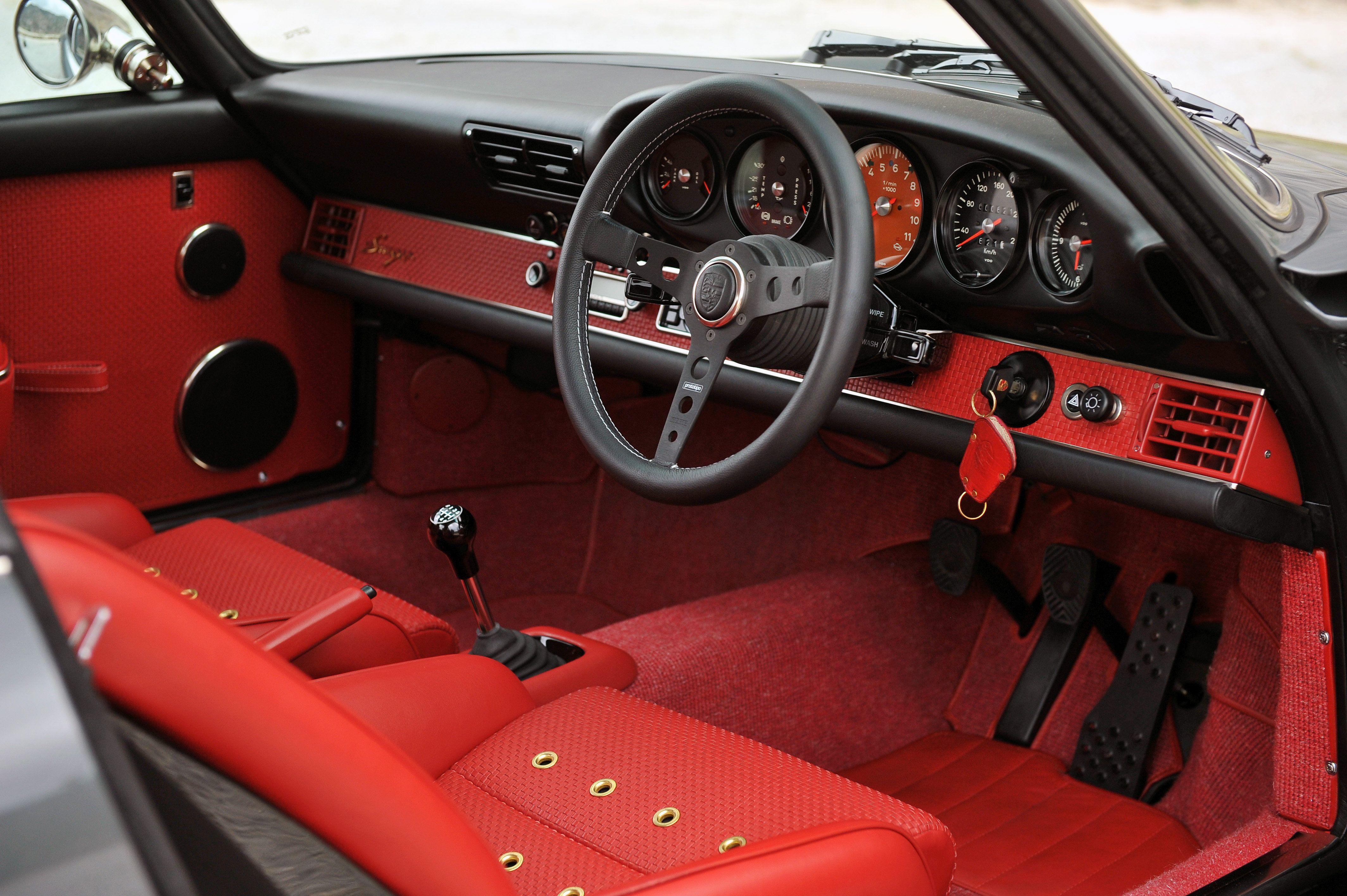 Porsche 911 Singer, red interior  #porsche #911 #singer