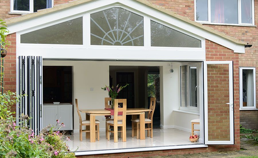 Open bi fold doors to an extension & Open bi fold doors to an extension | Delectable doors | Pinterest ...