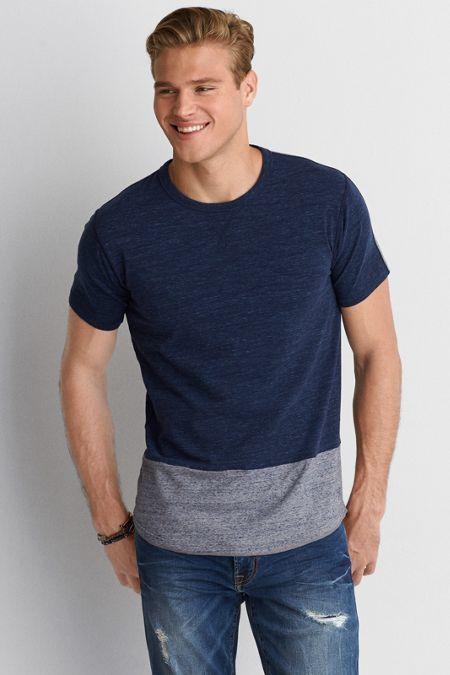 edab06bf American Eagle Outfitters AEO Flex Colorblock T-Shirt   Cool tees in ...