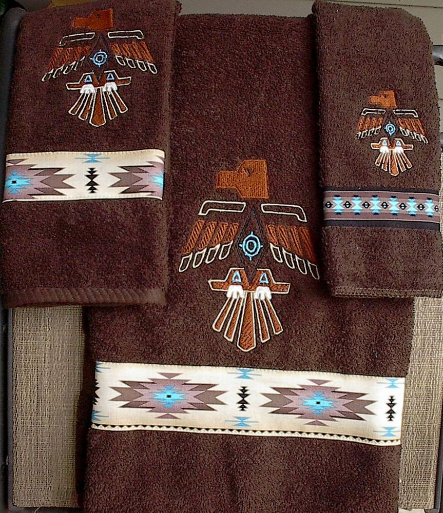 THUNDERBIRD TOWEL SET - NATIVE AMERICAN  Native american decor
