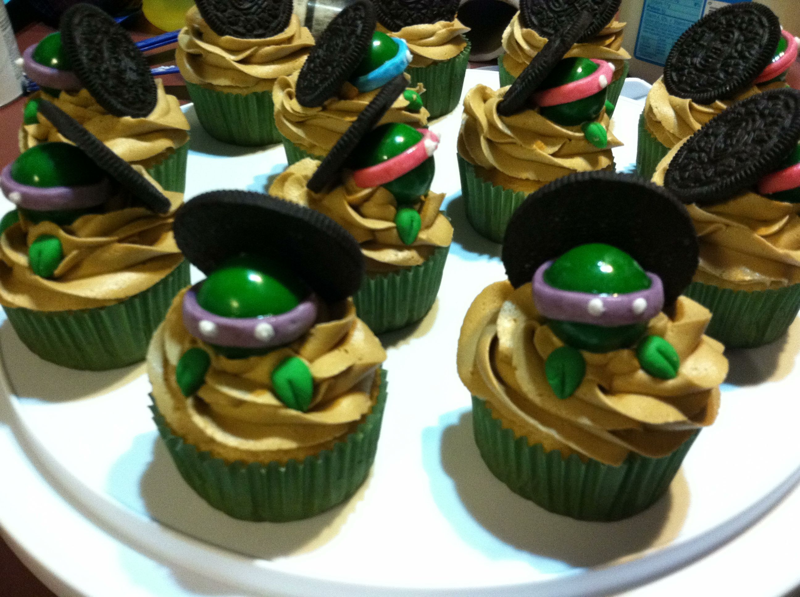 Ninja Turtle Cupcakes Cameron And Ethan Parties