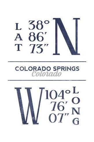 colorado springs colorado latitude and longitude blue art print lantern press art com blue art prints lantern press blue art pinterest