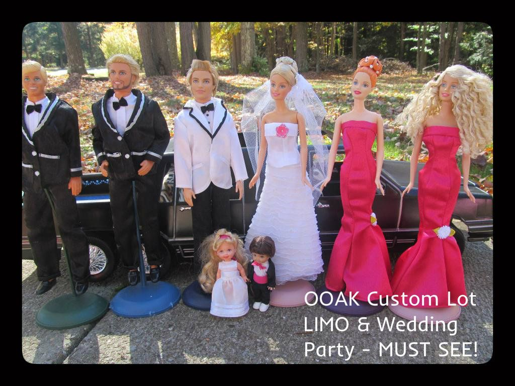 OOAK LOT Wedding Barbie Ken Bridal Party Custom Limousine LIMO Doll Gown Car BIG | eBay