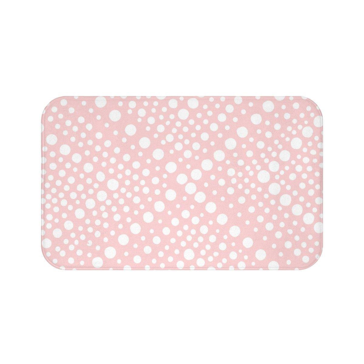 Blush Bath Mat Blush Pink And White Bath Mat X Dot Bathroom