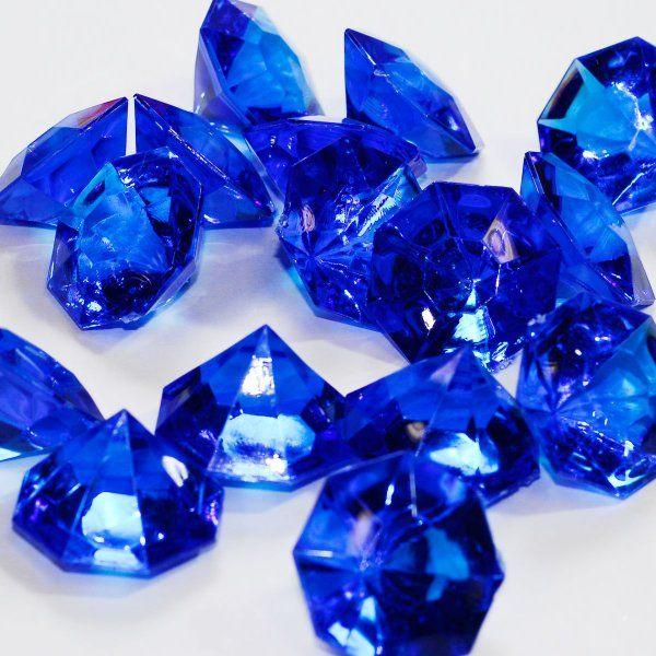 Royal Blue 25 Carat Acrylic Diamonds - 36 Acrylic Gems - Big Bling:Amazon:Arts, Crafts & Sewing