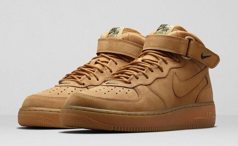 Nike Air Force 1 Mid Flax Con Imagenes Zapatos Air Max Deportes
