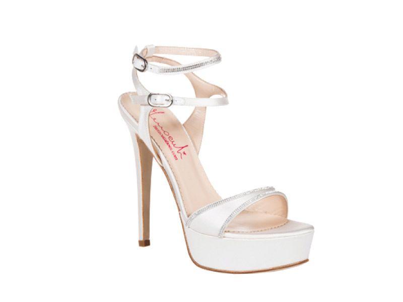 molti alla moda qualità affidabile outlet in vendita Scarpe sposa Ferracuti - Sandalo con plateau e swarovski ...