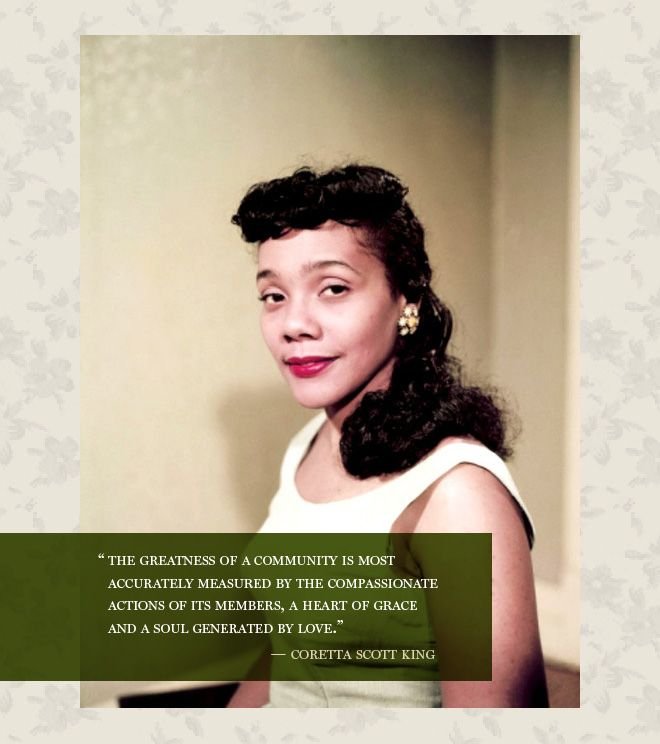 Starlet Quote Of The Week Coretta Scott King Inspirational Women Interesting Coretta Scott King Quotes