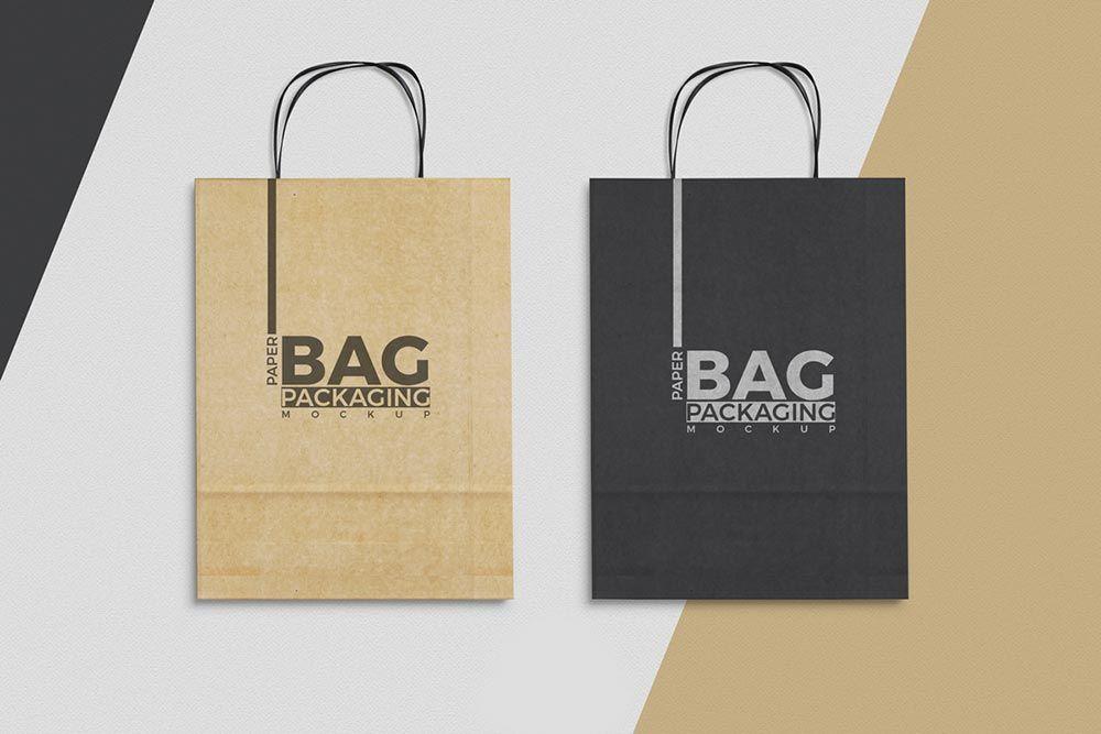 Download Free Paper Bag Mockup To Showcase Designs Bag Mockup Paper Bag Design Free Mockup