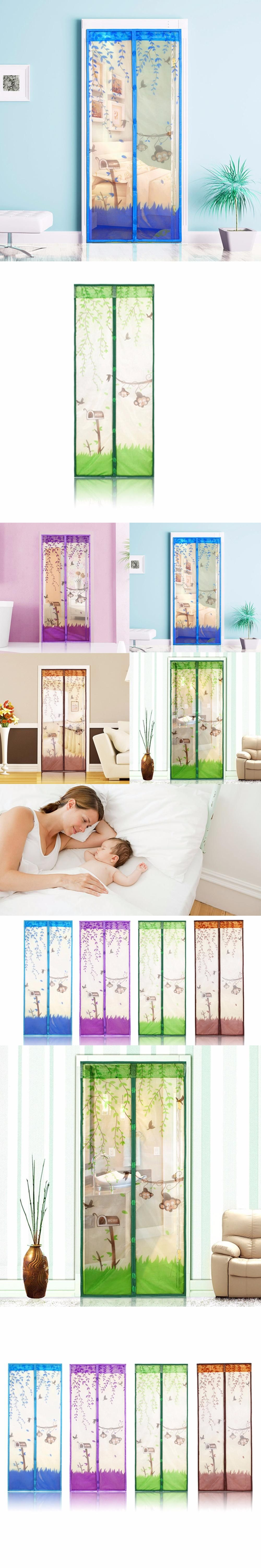 1 pc Home Magnetic Mesh Screen Door Mosquito Net Curtain Protect