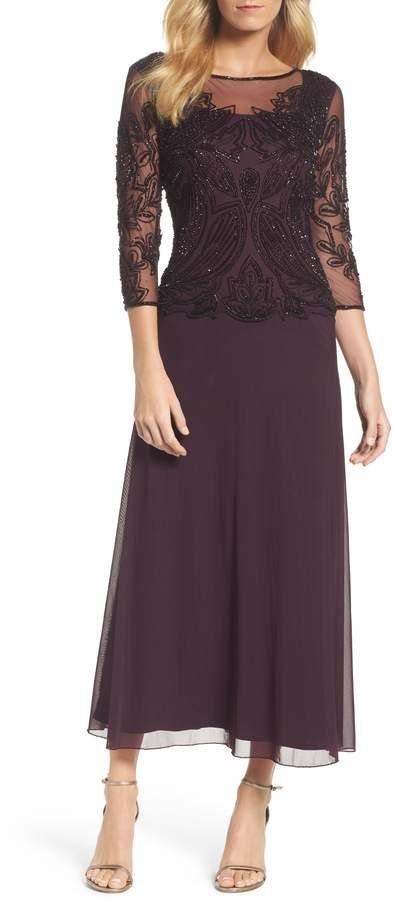 Pisarro Nights Embellished Mesh Gown #Nights#Pisarro# ...