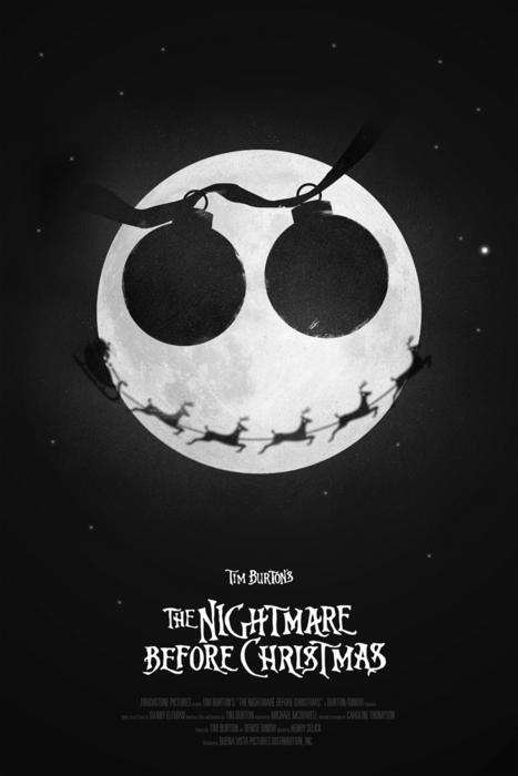 The Nightmare Before Christmas Tim Burton Movie Silk Poster 13x20 24x36 inch 002