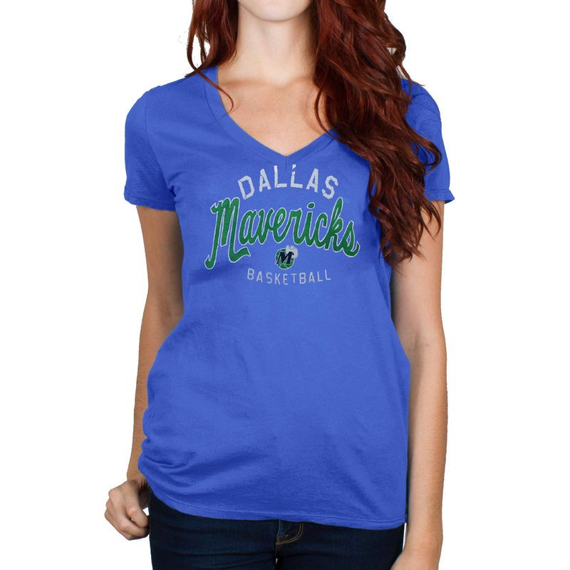 828adcf54602 Junk Food Dallas Mavericks Women s Champion V-Neck T-Shirt - Royal Blue