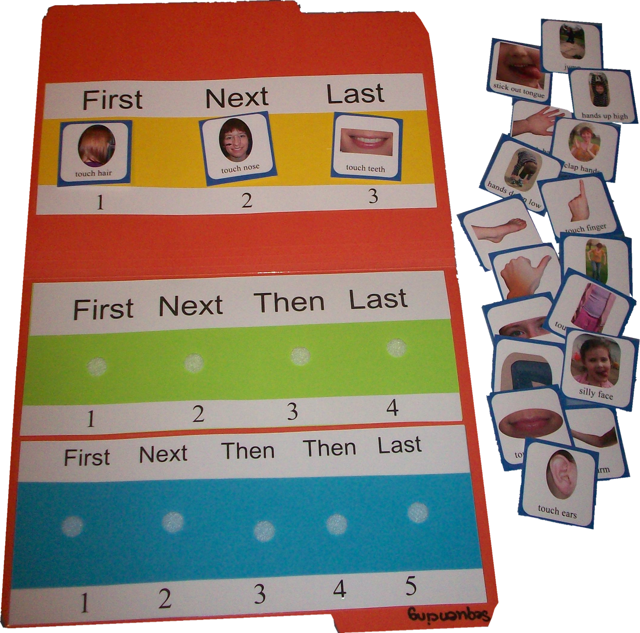 Following Directions Card Set Following Directions