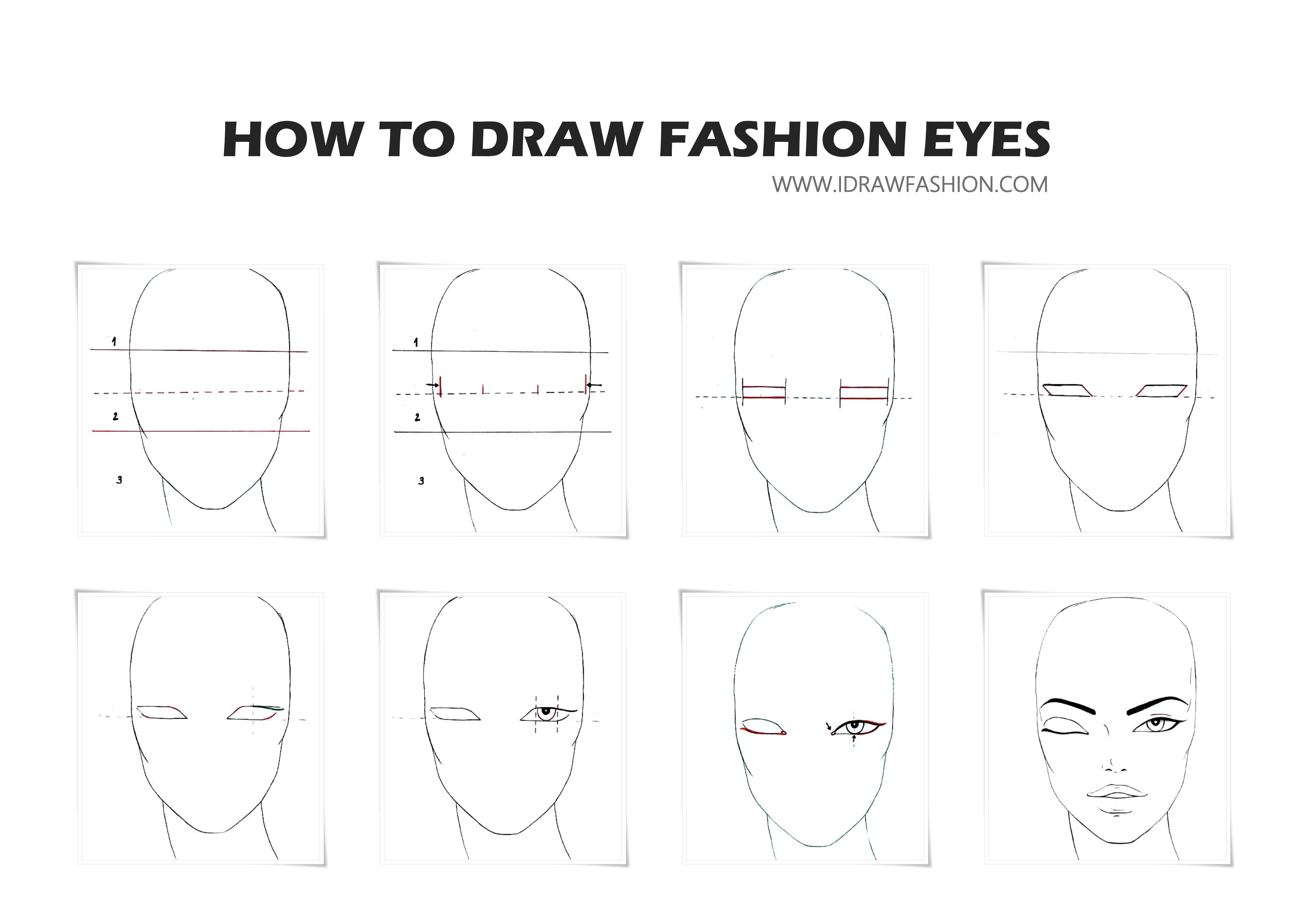 How To Draw Eyes Step By Step I Draw Fashion Fashion Design Sketches Fashion Illustration Face Fashion Illustrations Techniques