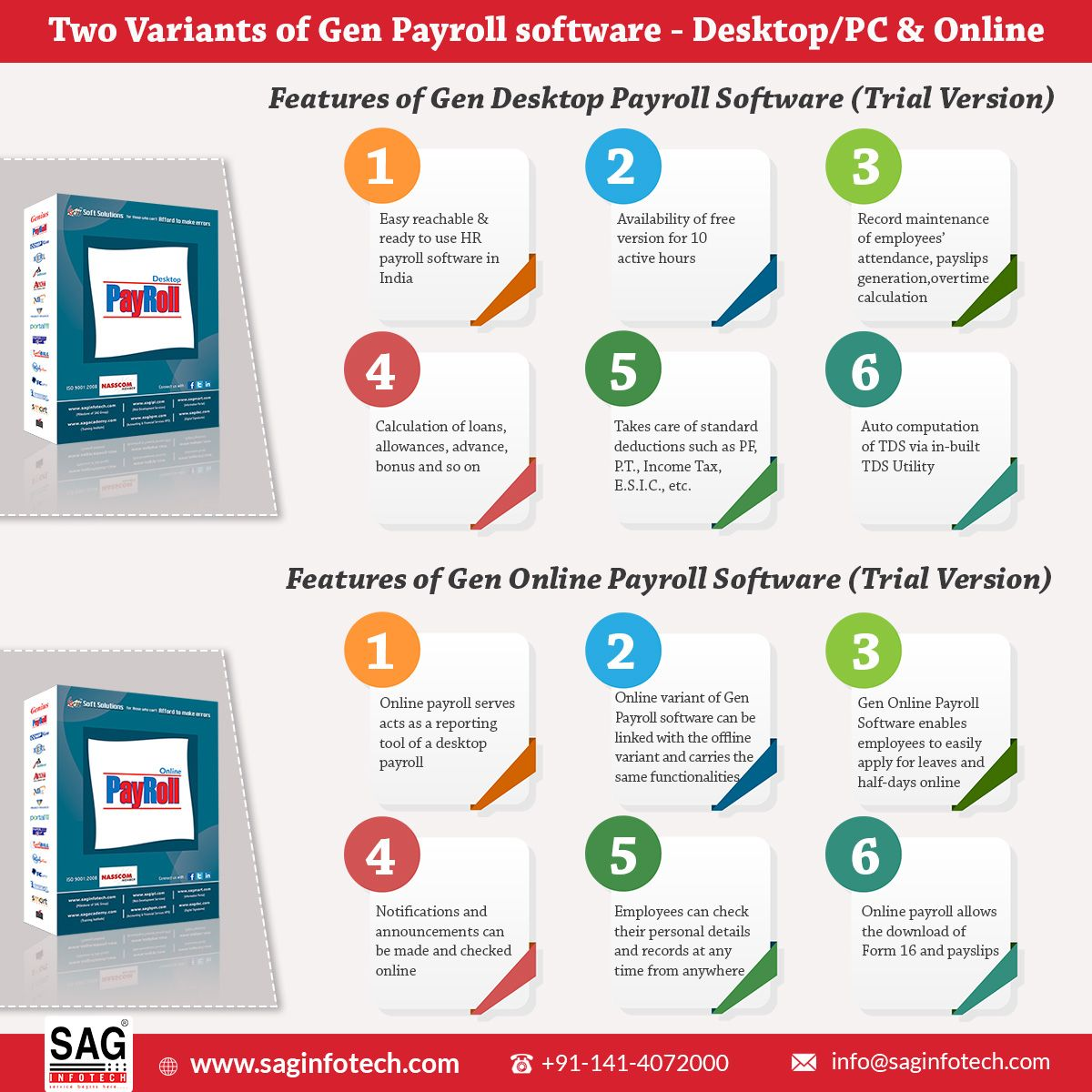 Download Full Trial Version Of Gen Payroll Software For Small Business Sag Infotech Taxation Software Company 2020
