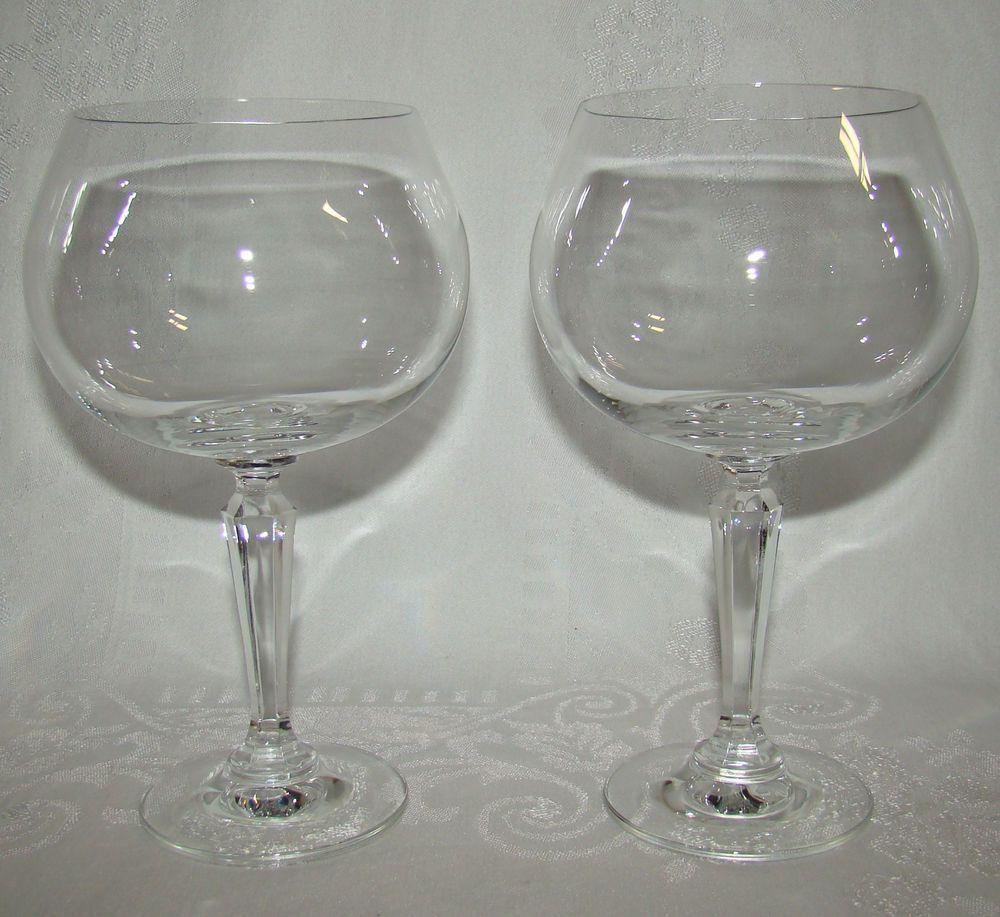 9718f5f5aa Pair of Vintage Lenox USA Decor balloon wine glasses