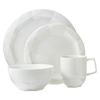 Nate Berkus Gemcut Dinnerware Set in White  sc 1 st  Pinterest & Nate Berkus Gemcut 16-Piece Dinnerware Set in White   Furnish ...