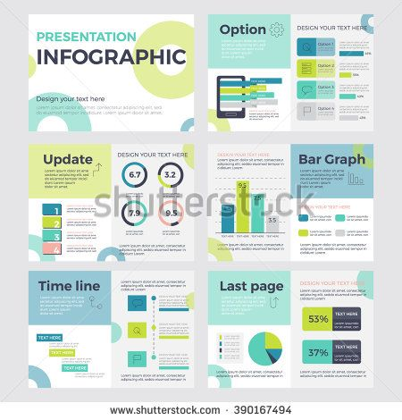 Set of infographic presentation concept of business and marketing - marketing presentation